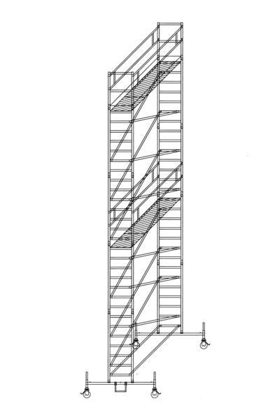 Aluminium-Rollgerüst (0,75 x 3,00 m) mit Fahrbalken*