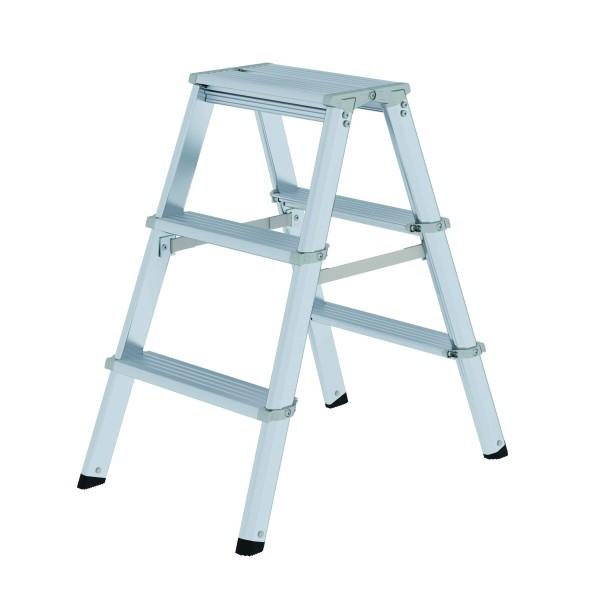 Aluminium-Stufen-Stehleiter 2 x 3 Stufen