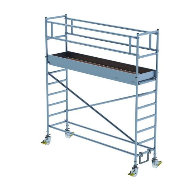 Aluminium-Rollgerüst (0,75 x 3,00 m) mit verstellbaren Auslegern*