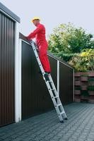 Aluminium-Stufen-Anlegeleiter ohne Traverse