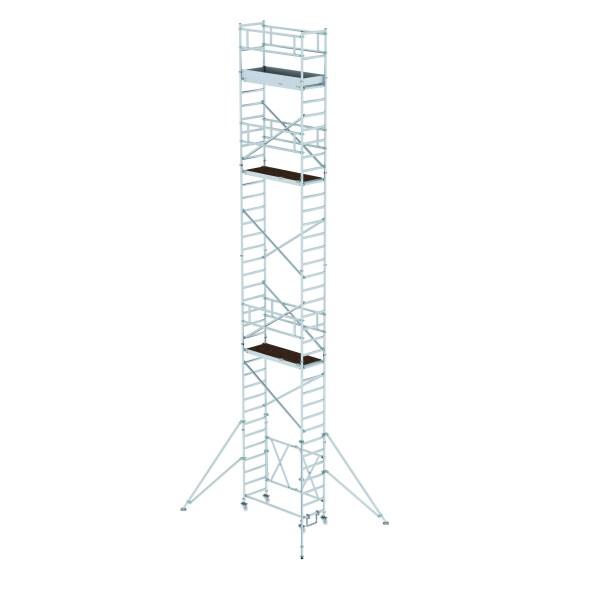 Aluminium-Klappgerüst (0,75 x 1,80 m) mit verstellbaren Auslegern*