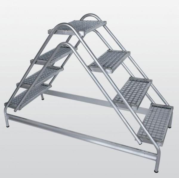Aluminium-Arbeitspodest beidseitig begehbar
