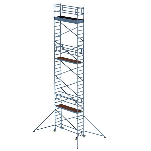 Aluminium-Rollgerüst (0,75 x 2,45 m) mit verstellbaren Auslegern*
