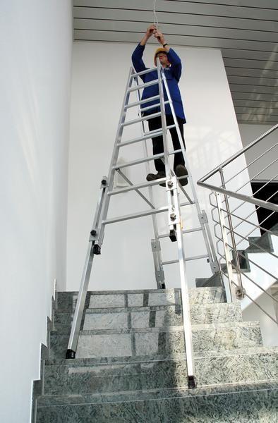 Aluminium-Stehleiter treppengängig