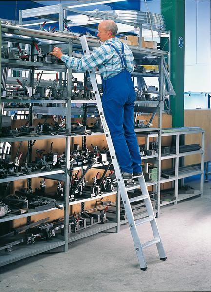 Aluminium-Regalleiter einhängbar