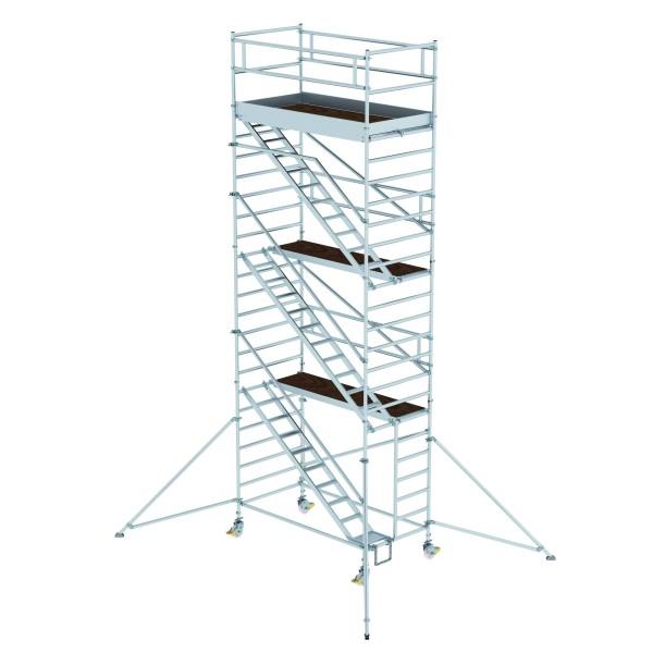 Aluminium-Rollgerüst (1,35 x 2,45 m) mit Schrägaufstiegen
