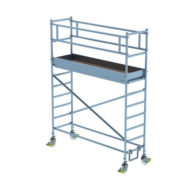 Aluminium-Rollgerüst (0,75 x 2,45 m) mit Fahrbalken*