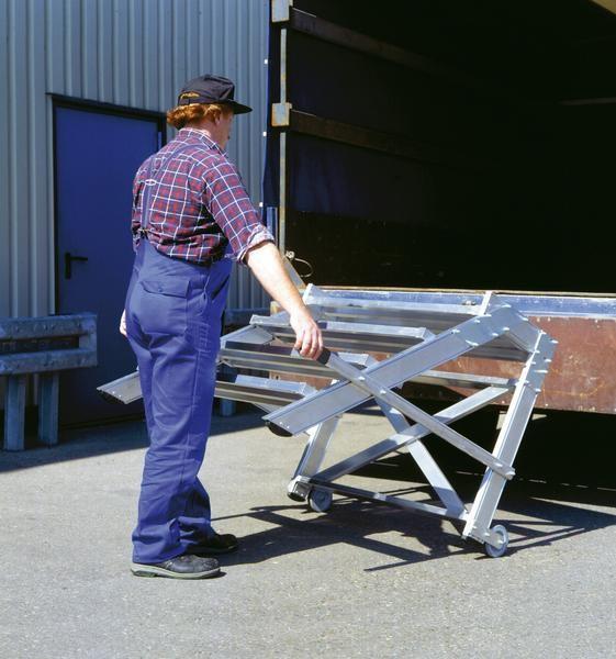 Aluminium-Arbeitspodest fahrbar