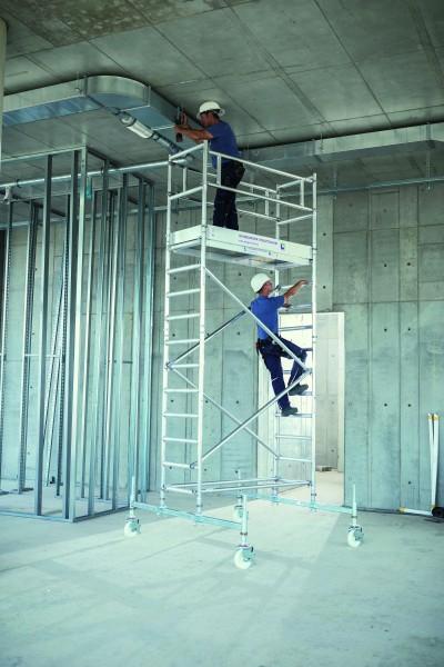 Aluminium-Rollgerüst (0,75 x 1,80 m) mit Fahrbalken*