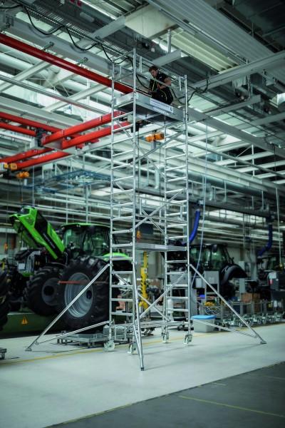 Aluminium-Rollgerüst (0,75 x 1,80 m) mit verstellbaren Auslegern*